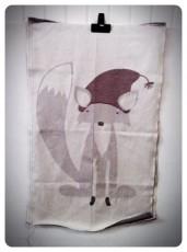 Fox on towel